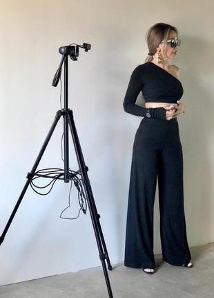 Женский костюм в рубчик  брюки топ 3 цвета 😍9 фото