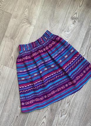 Легкая яркая юбка в стиле бохо