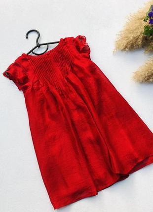 Нарядное красное шифоновое платье некст next