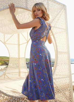Разные цвета! шикарное летнее штапельное платье миди ниже колен из штапеля