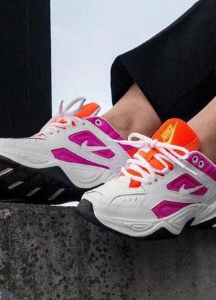 Nike m2k tekno цветные женские кроссовки найк текно