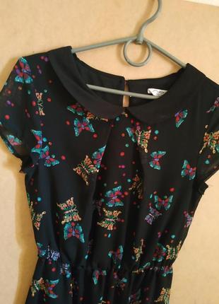 Шифоновое платье new look, размер 8