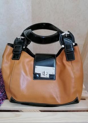 Оригинальная кожаная сумка karen millen
