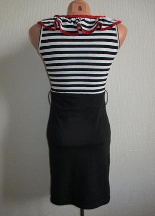 Sale! хлопковое трикотажное платье в полоску в морском стиле tsega4 фото