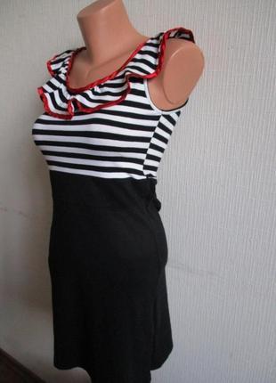 Sale! хлопковое трикотажное платье в полоску в морском стиле tsega3 фото