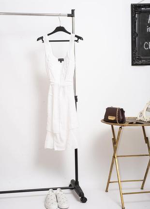 Воздушное летнее белое платье с поясом jean marc philippe