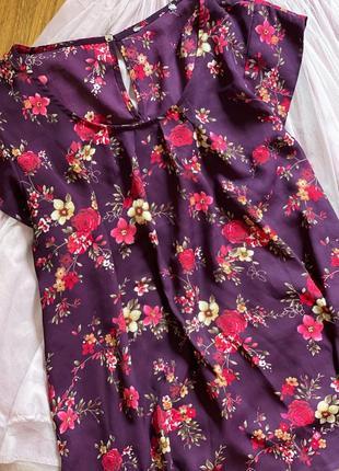 Женская блуза в цветочек летняя блузка большого размера