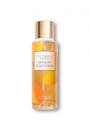 Парфюмированный спрей для тела с ароматом манго victoria's secret mango temptation 250 мл, оригинал
