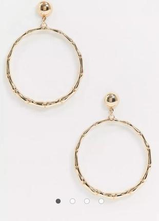 Сережки кільця, серьги гвоздики, серьги кольца от aldo  с сайта asos
