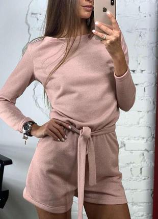 Платье шорты комбинезон женский женский комбинезон-шорты feyri пудра