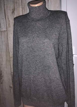 Шикарный 100% кашемировый свитер гольф водолазка