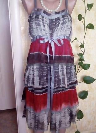 Шифоновое платье с воланами/сарафан/платье/юбка/брюки/джинсы