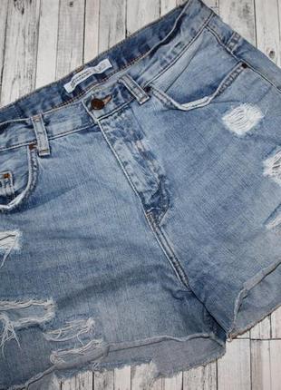 Джинсовые шорты с потертостями zara