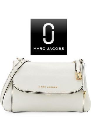Белая кожаная  сумка от marc jacobs{марк джейкобс}. оригинал