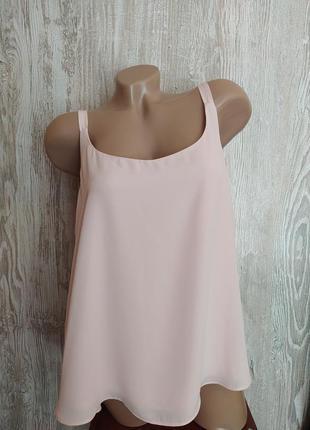 Новая пудровая блузка, топ в бельевом стиле wallis размер 14