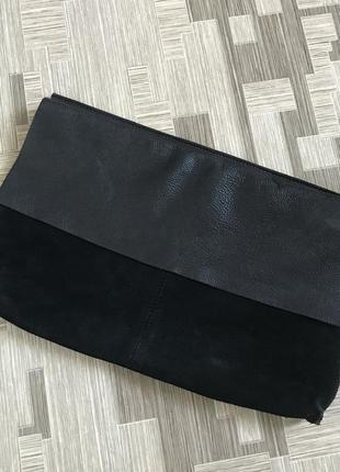 Клатч сумка замшевый замш из натуральной кожи кожа кожаная
