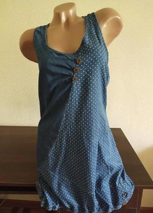 Стильный коттоновый джинсовый сарафан платье cameron alife & kickin