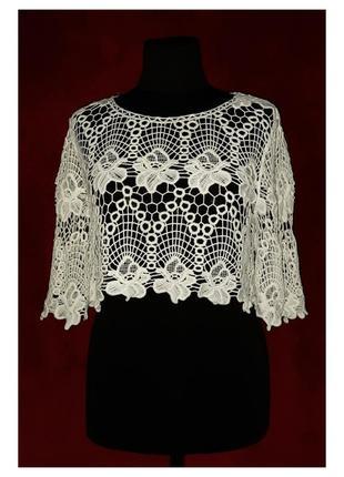 Укороченная ажурная блуза