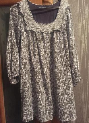 Натуральная туника-платье french connection 12/40