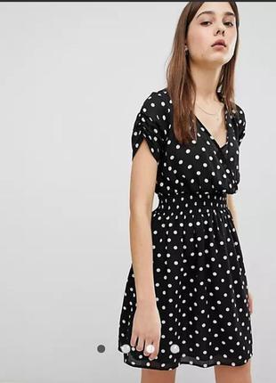Платье в горох мини 14 размер сукня в горох віскоза
