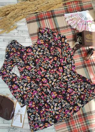 Платье миди яркое с объемным рукавом h&m