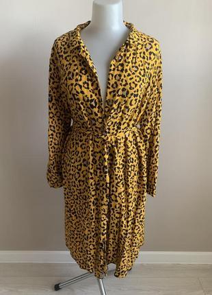 Платье-рубашка миди xl