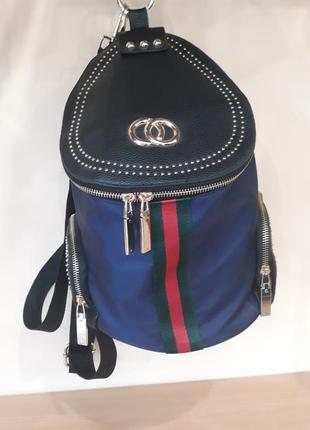 Модный городской рюкзак в стиле шанель.