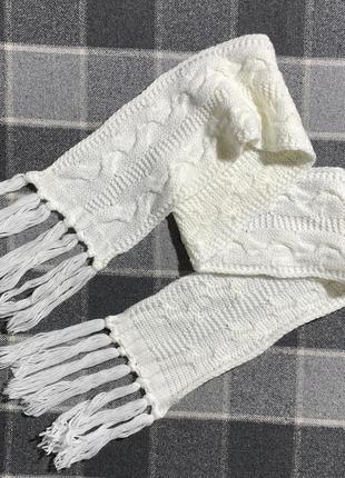 Женский шарф (идеал оригинал белый)