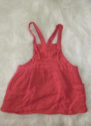 Муслиновый сарафан розовый (2-2.5 года)