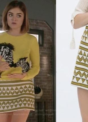 Шикарная мини юбка zara