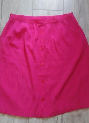 Актуальная юбка , яркая, с пуговицами, стильная, трендовая, летняя