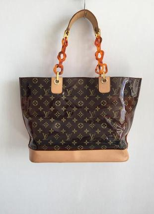Louis vuitton виниловая сумка шоппер 🧡
