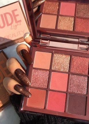 🌟😍палетка/палитра теней для век huda beauty rich nude obsessions
