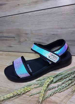 Босоножки женские 🍓  пайетки платформа сандалии лето босоніжки сандалі