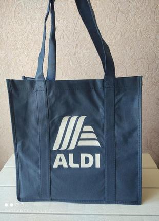 Сумка женская, пляжная сумка, для покупок, торба, спанбонд, еко сумка aldi италия