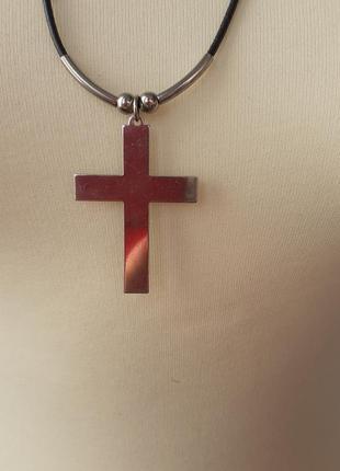 Украшение на шею крест винтаж