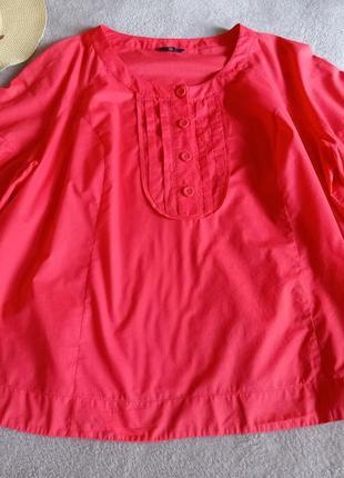 Яркая натуральная блуза очень большого размера супер батал
