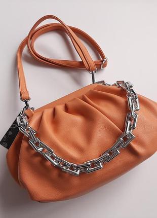 Трендова сумка гарбузового оранжевого  кольору  luck sherrys