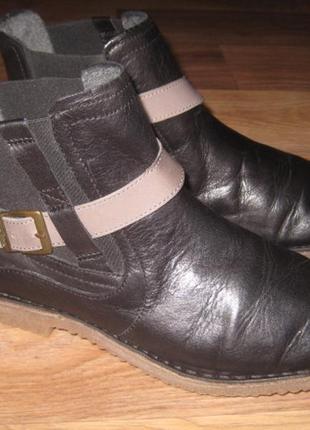 Кожаные демисезонные ботинки camel active оригинал - 38,5 размер