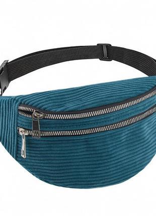 Вельветовая панамка, поясная сумка