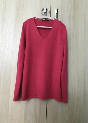 Мягенький яркий пуловер 100% кашемир