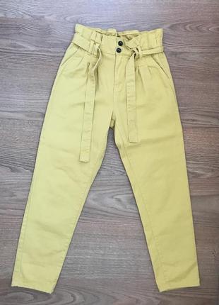 Желтые  джинсы бананы слоучи denim co