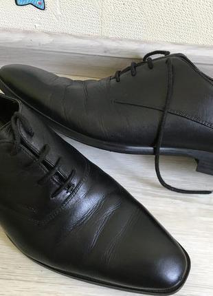 Шикарные кожаные туфли geox