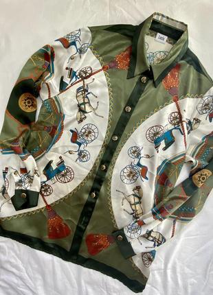 Рубашка в стиле hermes vintage винтаж