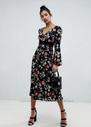 Asos  платье в цветочный принт zara next h&m