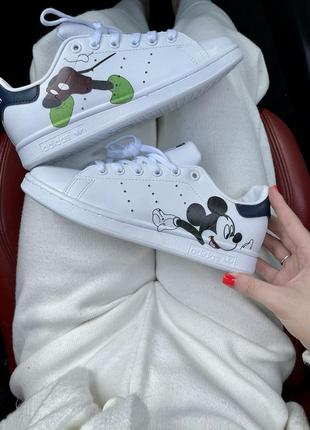Женские кроссовки adidas stan smith disney mickey mouse