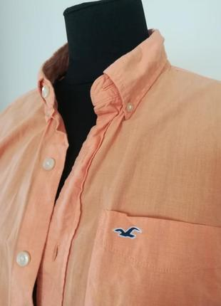 Летняя легкая хлопковая рубашка hollister размер л