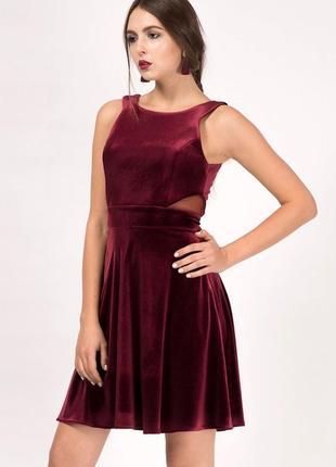 Hearts&bows бархатное платье бордо