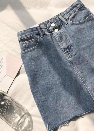 Юбка джинсовая classic 🖤