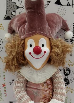 Лялька интерьерна клоун
